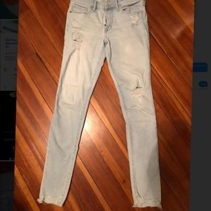 Light wash, ripped, skinny Abercrombie&Fitch Jeans